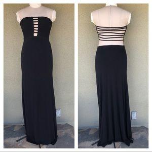 NEW Sky strapless black maxi dress
